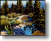Cerulean Mountain Stream - 16X20 - Oil