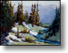 Crystal Mountain Stream - 12x16 - Oil